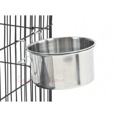 Hook on Stainless Steel Hanging Dog Bowls