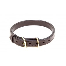 Leather Collar Double Layered 25mm wide 65 cm long
